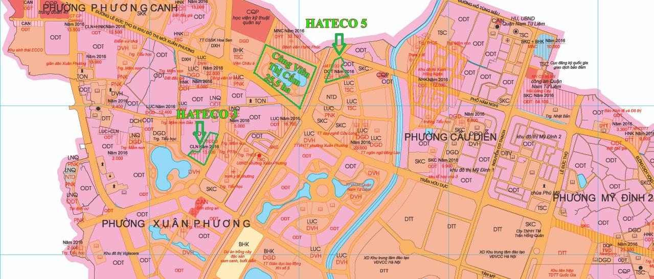 Bản đồ quy hoạch Quận Nam Từ Liêm