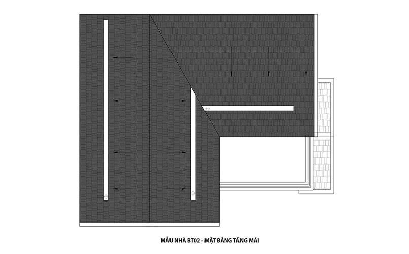 thiết kế mẫu biệt thự 2 tầng mái dự án Hateco 3