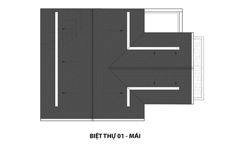 Mẫu Biệt thự 1 mái dự án Hateco 3