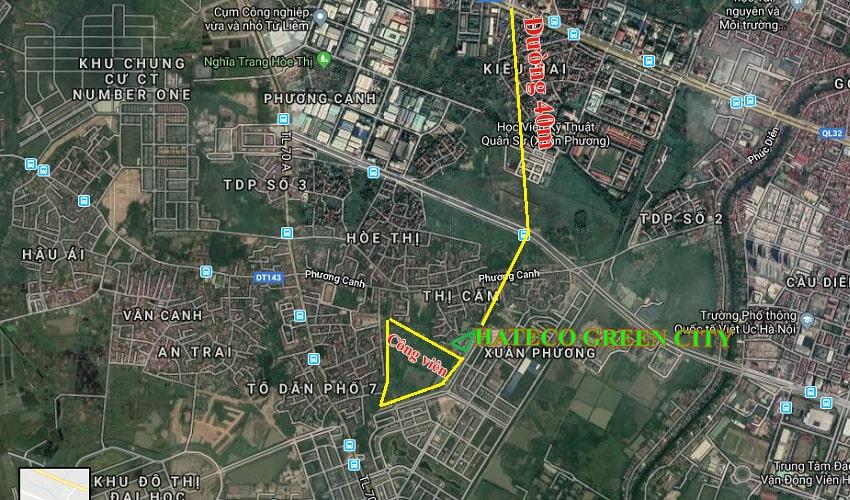 Bản đồ thực địa Hateco Green City