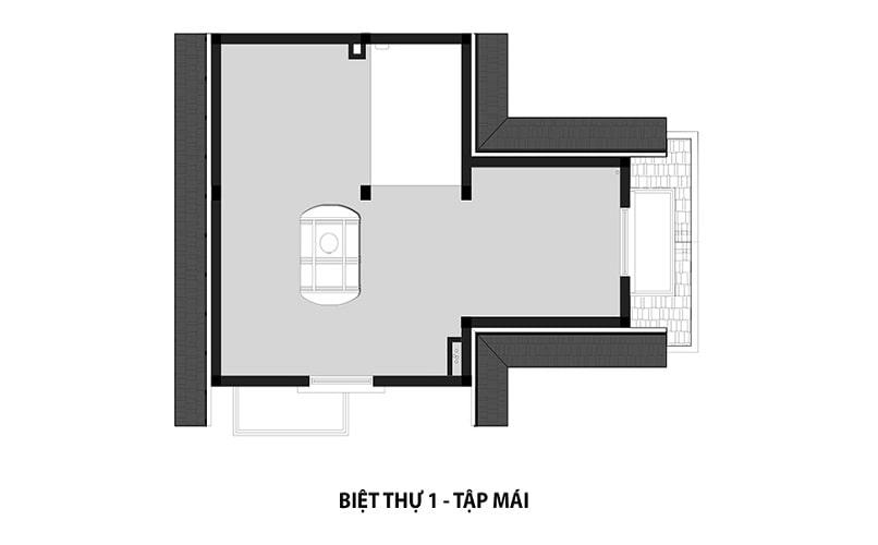 Mẫu Biệt thự 1 - Tầng mái dự án Hateco 3