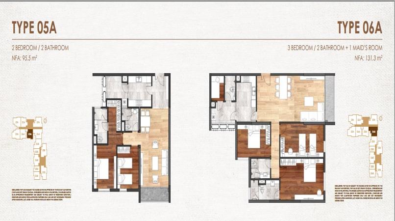 Mặt bằng căn 7A - 1B chung cư E2 Yên Hòa