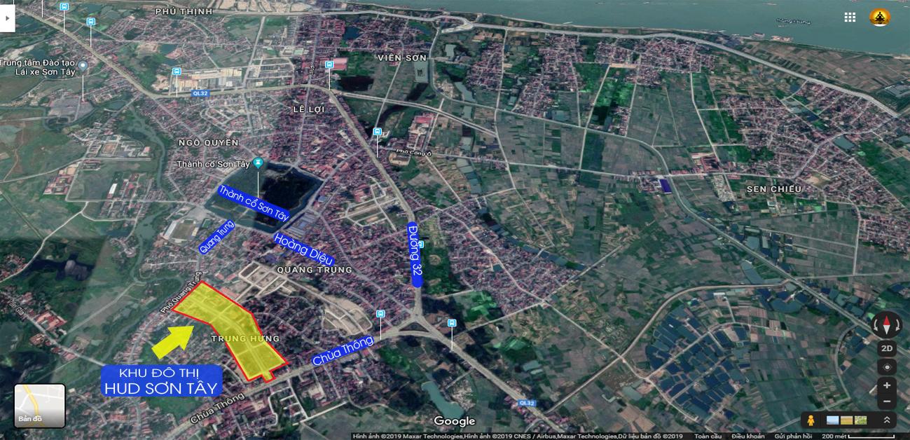 Dự án nằm trên địa phận 3 phường thuộc Thị xã Sơn Tây