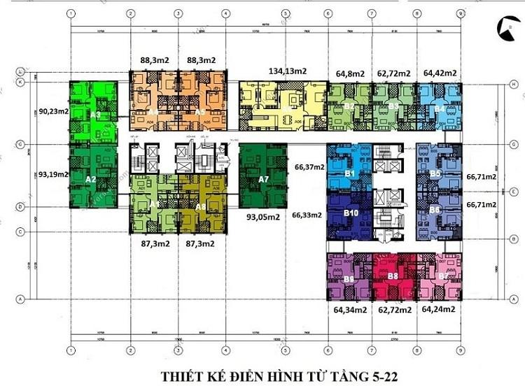 Mặt bằng chung cư UDIC 122 Vĩnh Tuy