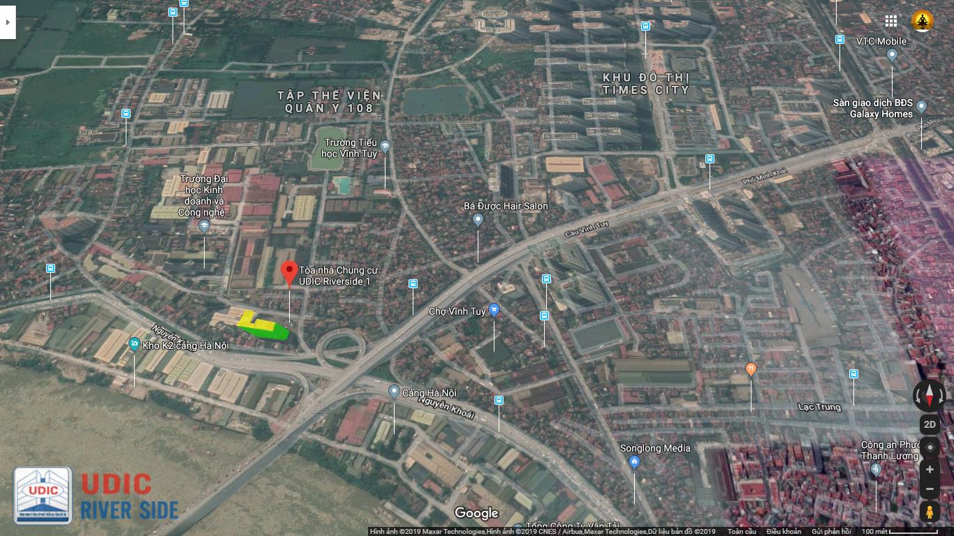 Vị trí chung cư UDIC Riverside 122 Vĩnh Tuy