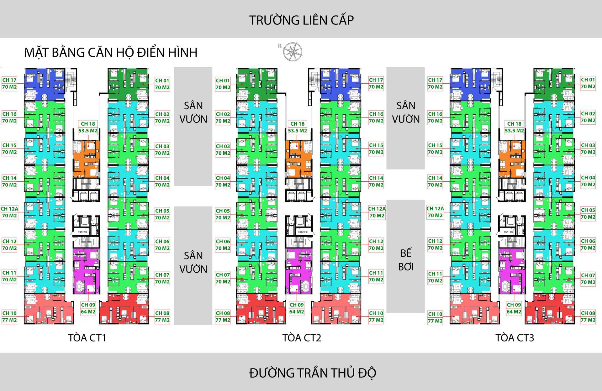 Mặt bằng thiết kế dự án nhà ở xã hội IEC Thanh Trì