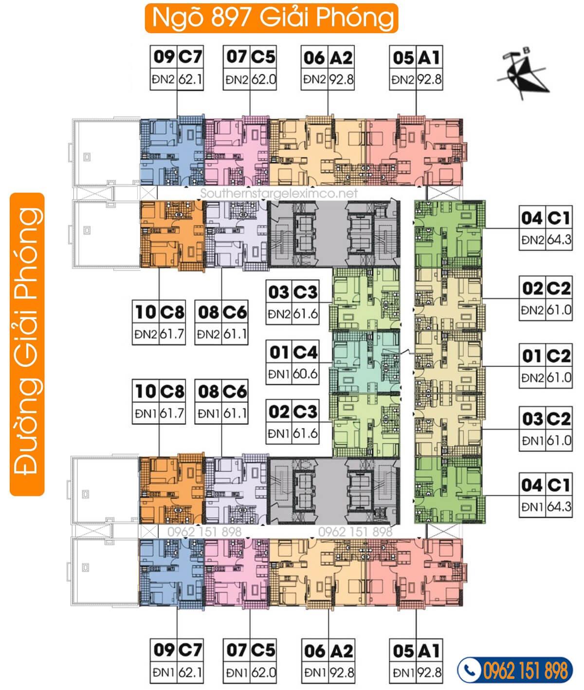 mặt-bằng-tầng-18-21-chung-cư-geleximco-southern-star-geleximco-897-giải-phóng