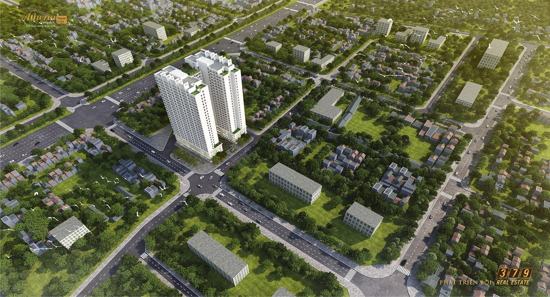 Phối cảnh tổng thể dự án Athena Complex Pháp Vân