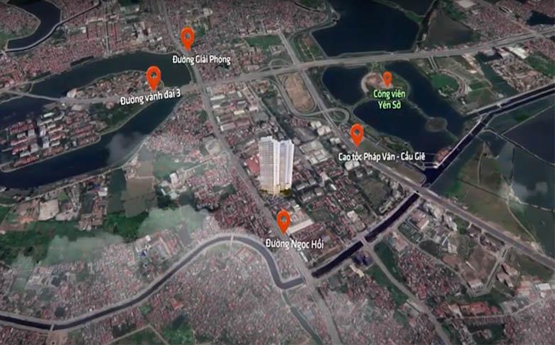 Chung cư Athena Complex Pháp Vân tọa lạc tại 161 Ngọc Hồi – KĐT Pháp Vân