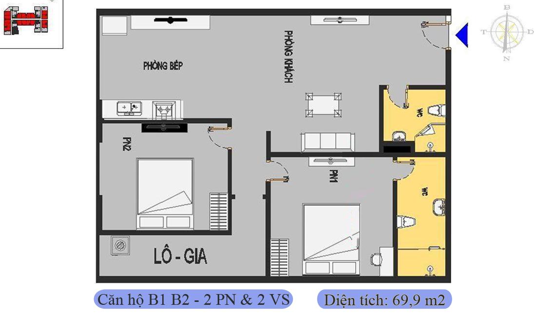 mặt-bằng-căn-b1-b2-69,9m2-nhà-ở-xã-hội-rice-city-thượng-thanh